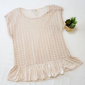 💝CAREN SPORT Crochet Pattern Mocha Top 1XL